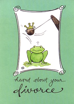 Frog special occasion greeting cards frog valentines graduation heard divorcesorry frog greeting card m4hsunfo