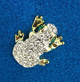 Crystal Frog Tac Pin