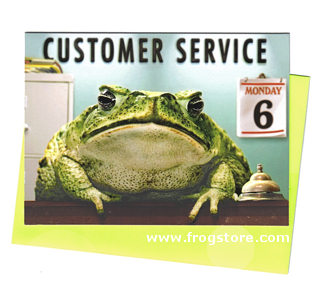 Frog Customer Service Card