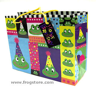 Medium Frog Hoppy Birthday Gift Bag
