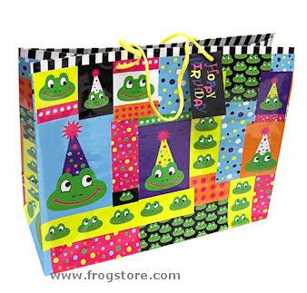 Large Frog Hoppy Birthday Gift Bag