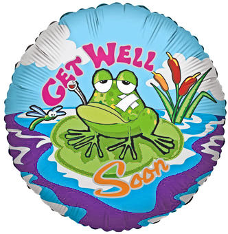 Get Well Soon Frog Balloon