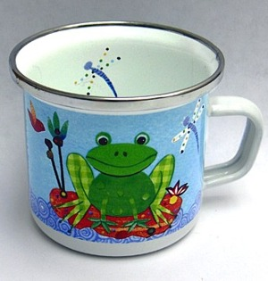 Country Frog Mini Enamelware Cup