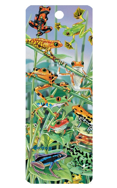 3D Tree Frogs Bookmark