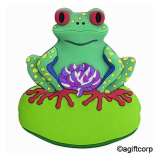 Red Eyed Tree Frog on Lilypad Magnet