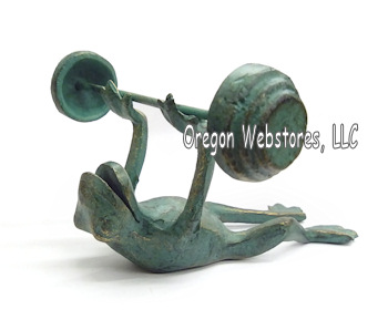 Weight Lifting Metal Frog
