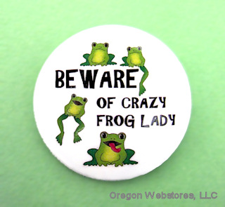 """""""Beware of Crazy Frog Lady"""" Magnet"""