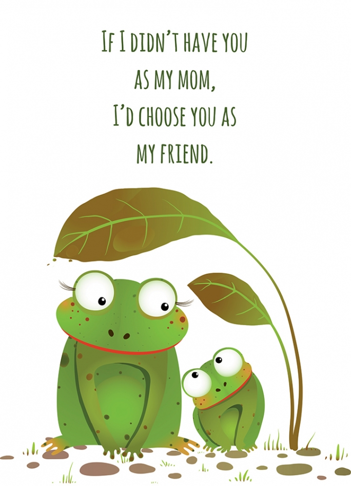 Mothers day frogs gifts and cards frog friend mothers day card m4hsunfo