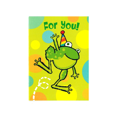 Frog greeting cards blank inside for you leaping frog enclosure card m4hsunfo