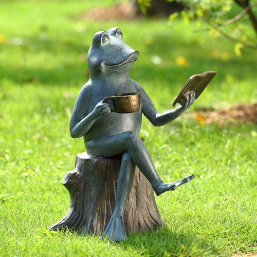 Merveilleux Joy Of Reading Frog Garden Sculpture
