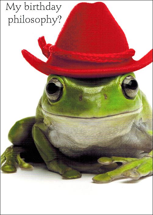 Avoid Croaking Frog Birthday Card
