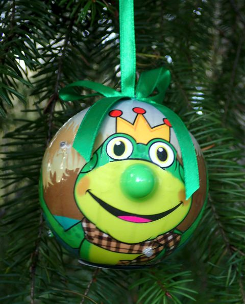twinkling lights frog ornament