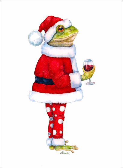Frog christmas cards and seasons greetings jolly frog boxed holiday cards 10 m4hsunfo