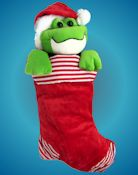 Hoppy Holidays Frog Stocking