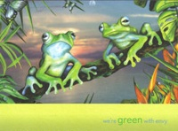 """Green with Envy"" Frog Birthday Card"