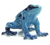 """Sapphire"" Blue Mini Porcelain Dart Frog"
