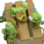 Set of 3 Assorted Frog Perchers
