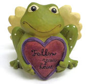 """Follow your heart"" Frog Figurine"