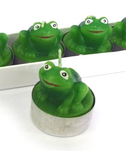 Green Frog Tea Lights (Set of 6)