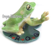 """Fully Rely On God"" Mini Porcelain Frog"