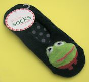 Black Frog Slipper Socks