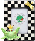 Frog Ceramic Picture Frame