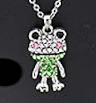 Crystal Funny Frog Necklace
