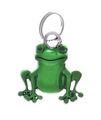 Green Pewter Split-Ring Lucky Frog Charm