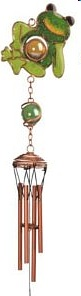 Small Relaxing Frog Copper Windchime