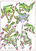 """Sticky Toes"" Holiday Boxed Frog Cards (10)"