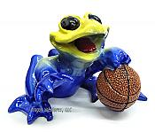 Basketball Sports Frog Figurine