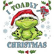 """Toadly Love Christmas"" White T-Shirt"
