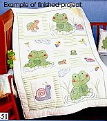 Froggy Crib Quilt Top Project