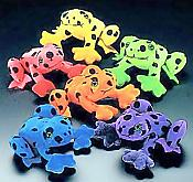 Velvety Plush Neon Frogs (12)