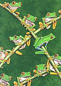Cross Frogs Blank Greeting Card