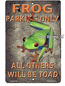 Frog Parking Color Metal Sign