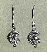 Frog Moon Sterling Earrings