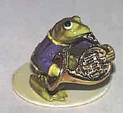 Porcelain Miniature: French Horn Frog