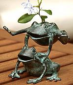 Leaping Frogs Flower Holder