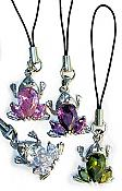 Crystal Frog Cell-Phone Charm