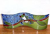 Fused Glass Tree Frog Wavy Art Glass