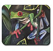 Red Eyed Tree Frog on Branch Mousepad