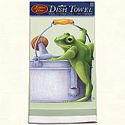 Garden Frog Cotton Dishtowel