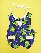 Corporate Style Boys Vest Frog Baby Bib