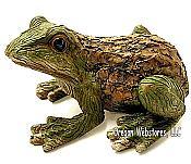 Bark Look Frog Garden Statue