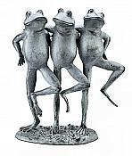 Dancing Frog Trio Garden Sculpture