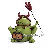 Devil Frog Figurine