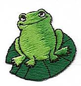 Frog on Lilypad Embroidered Iron-On