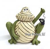 Mummy Zombie Frog Figurine