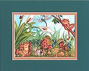 Frogs & Toadstools Matted Print
